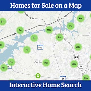 homes for sale in anderson sc map
