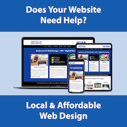 anderson sc website design